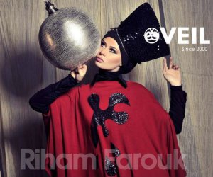 Veil Riham Farouk Hijab New Collection 2014