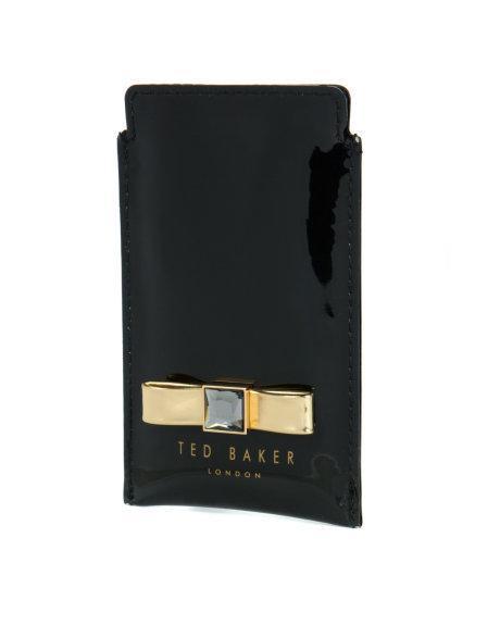 row_Mens_Gifts_Gifts-for-her_FRILI-Bow-metallic-phone-sleeve-Black_DA4W_FRILI_00-BLACK_1_jpg