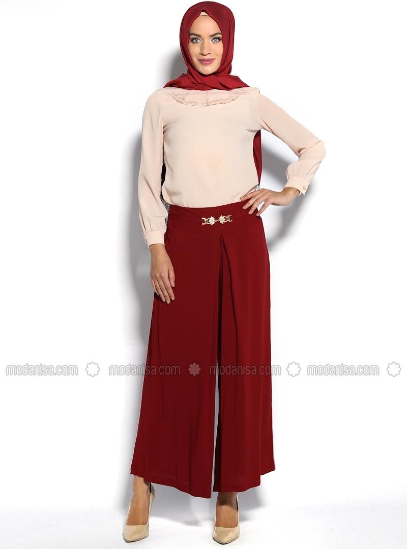 z-bagcik-detayli-pantolon-etek-bordo-nilson-83387-1