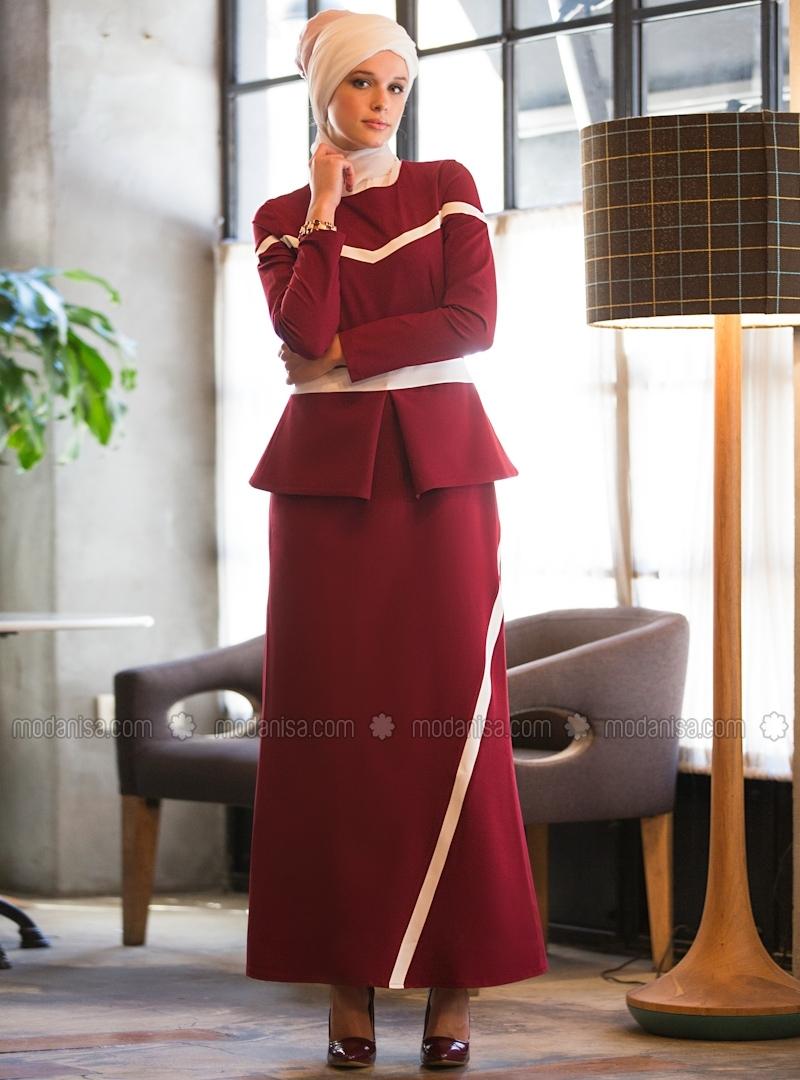 z-peplum-detayli-elbise--bordoekru--tavin-86989-3