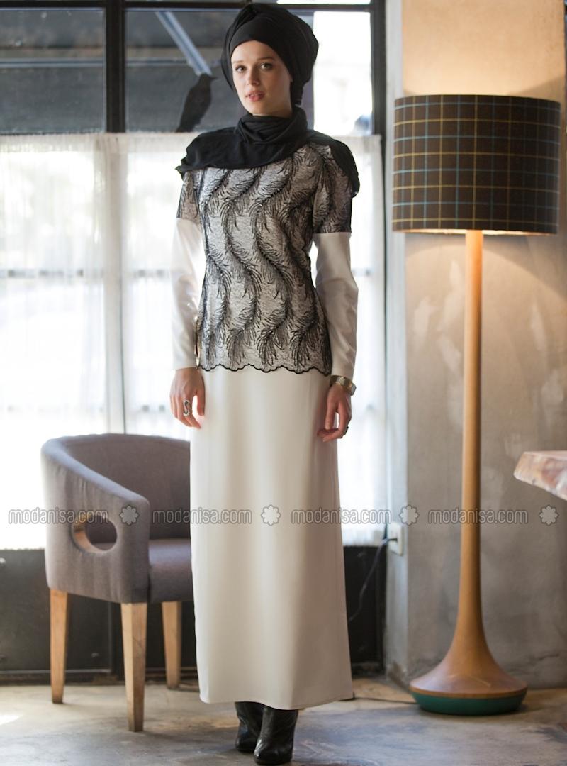 z-uzeri-flos-dantelli-abiye-elbise--beyazsiyah--tavin-86994-1