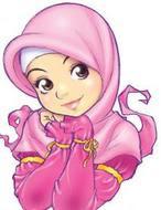 cute pink hijab character
