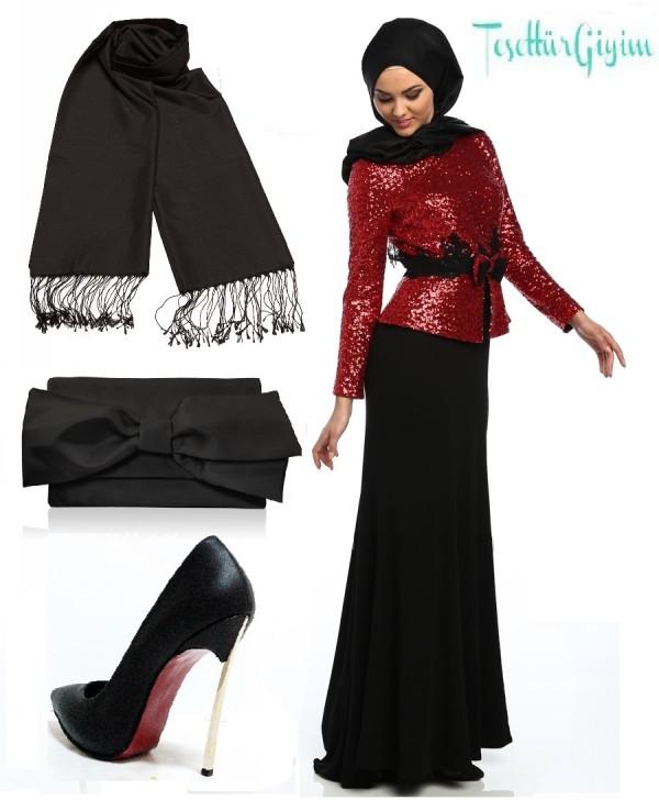 z-uzeri-pul-payetli-fiyonklu-abiye-elbise--kirmizi--mileny-73430