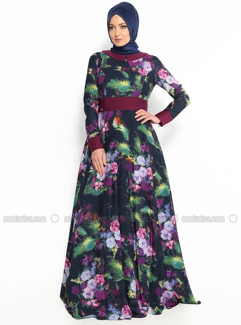 z-cicek-desenli-elbise--lacivert--armine-giyim-107955-3