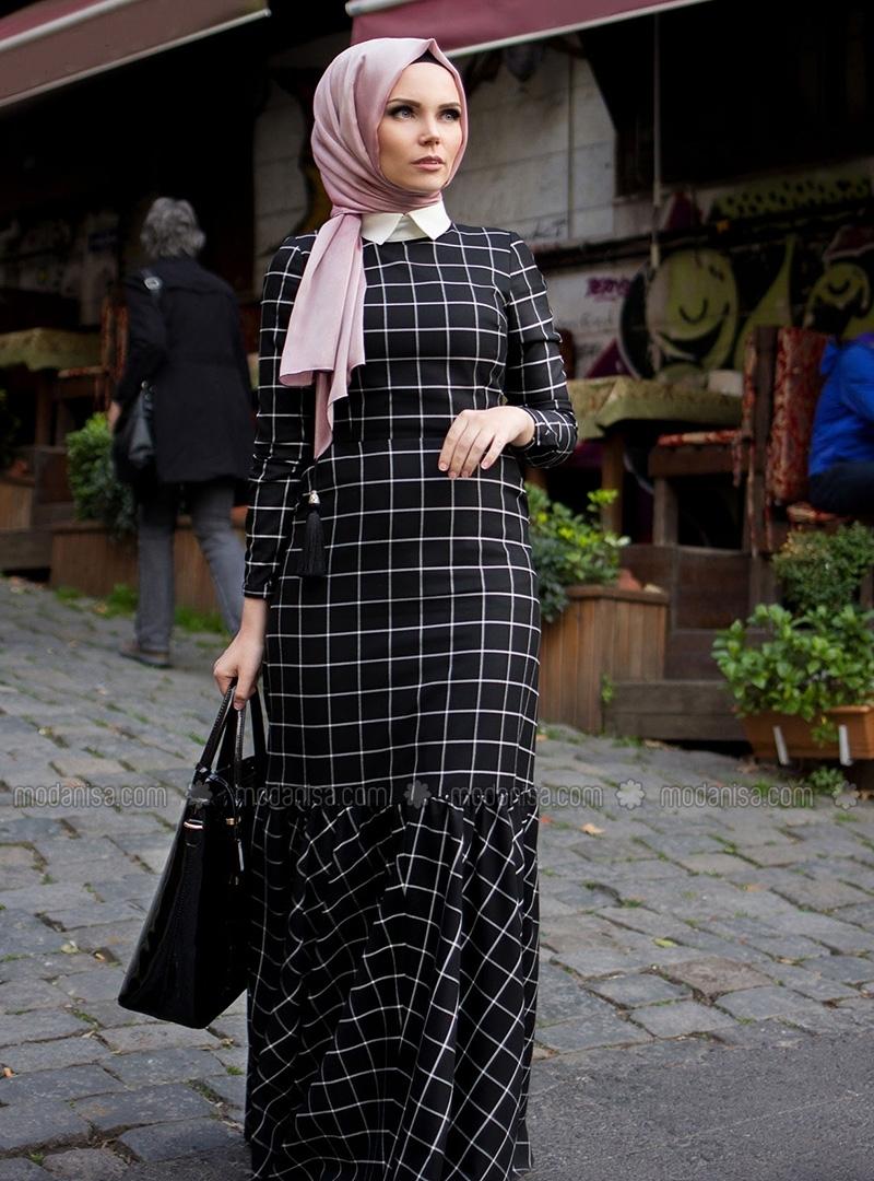 z-ekoseli-elbise--siyah--muslima-wear-100692-1