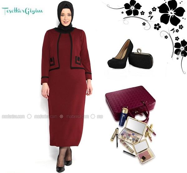 z-vildan-kendinden-ceketli-elbise--bordo--melisita-96775-1