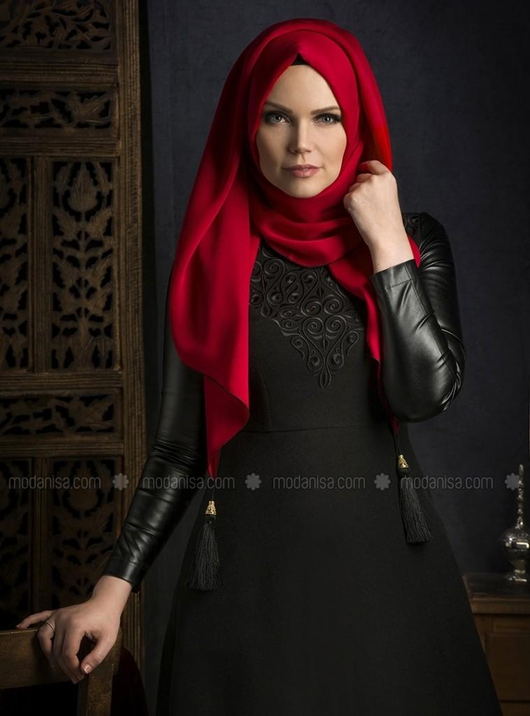 z-deri-kollu-elbise--siyah--muslima-wear-106838-1