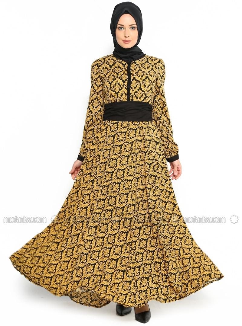 z-desenli-elbise--sari--burun-106934-1
