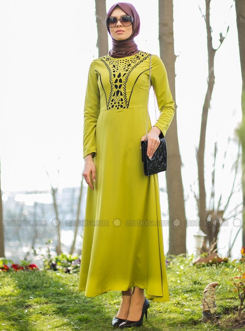 z-lazer-desenli-elbise--yesil--refka-107427-2