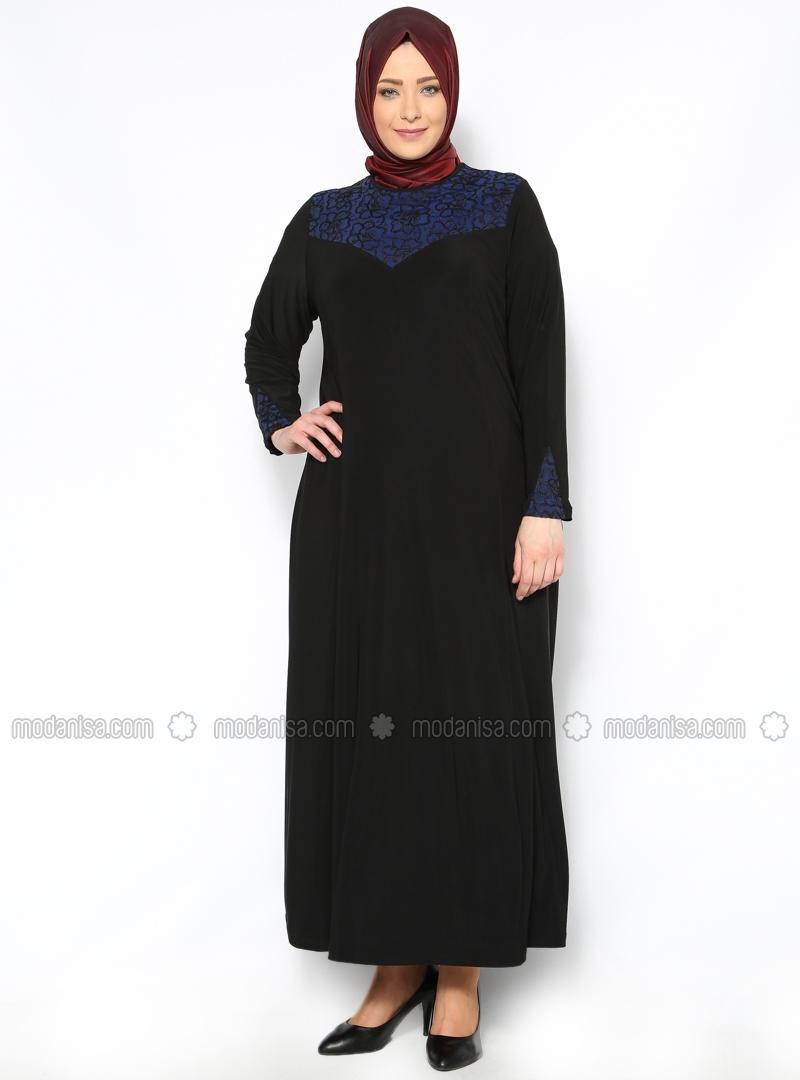 z-cicek-detayli-elbise--siyah-saks-mavi--neslihan-triko-116445-1