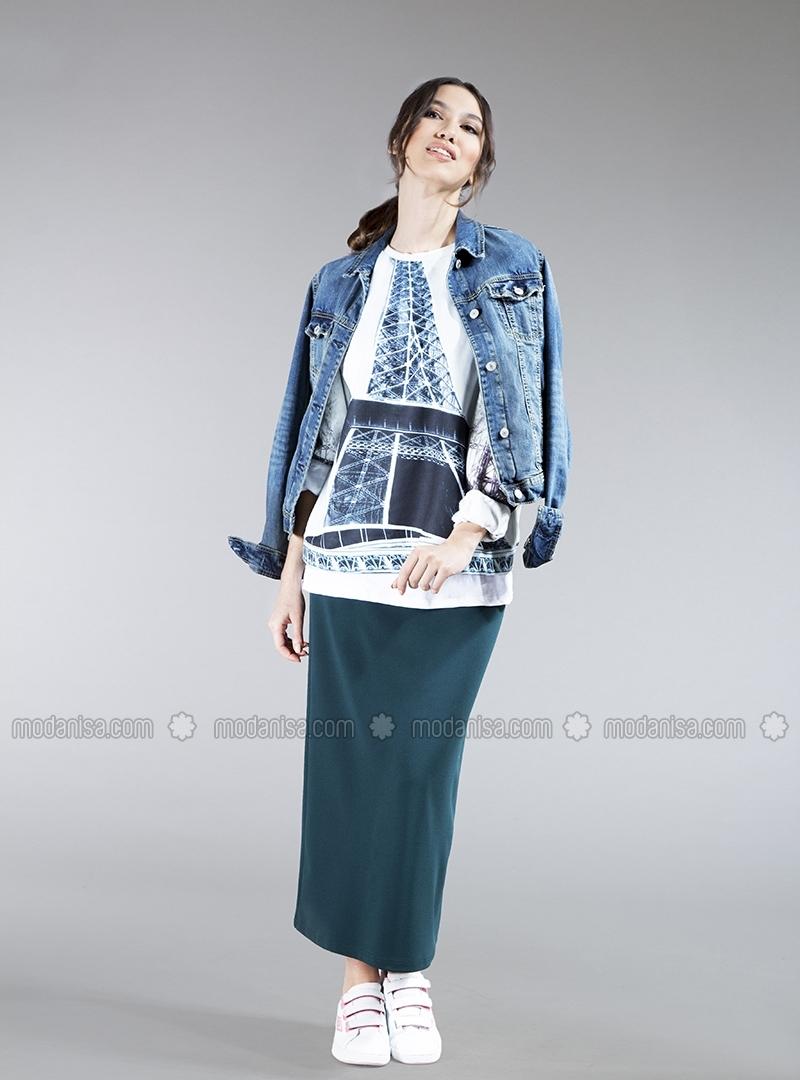 Tesettür Giyim 2015 Kalem Etek Modelleri