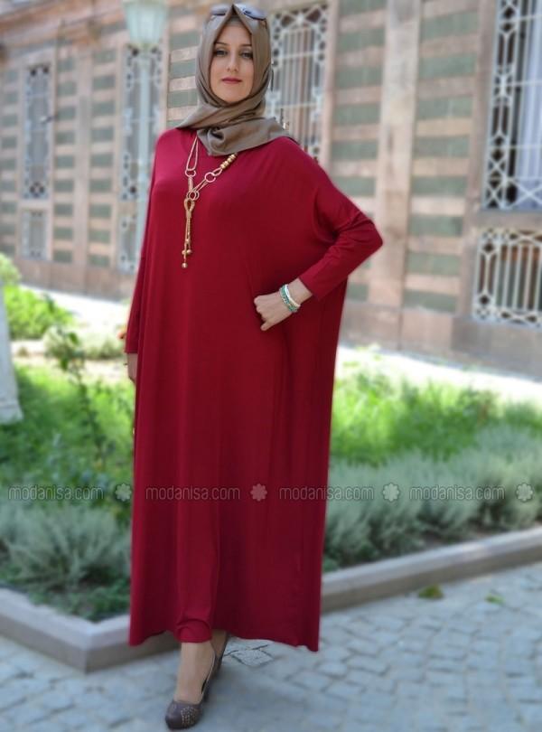 z-kapsonlu-salas-elbise--kirmizi--henna-elisa-81637