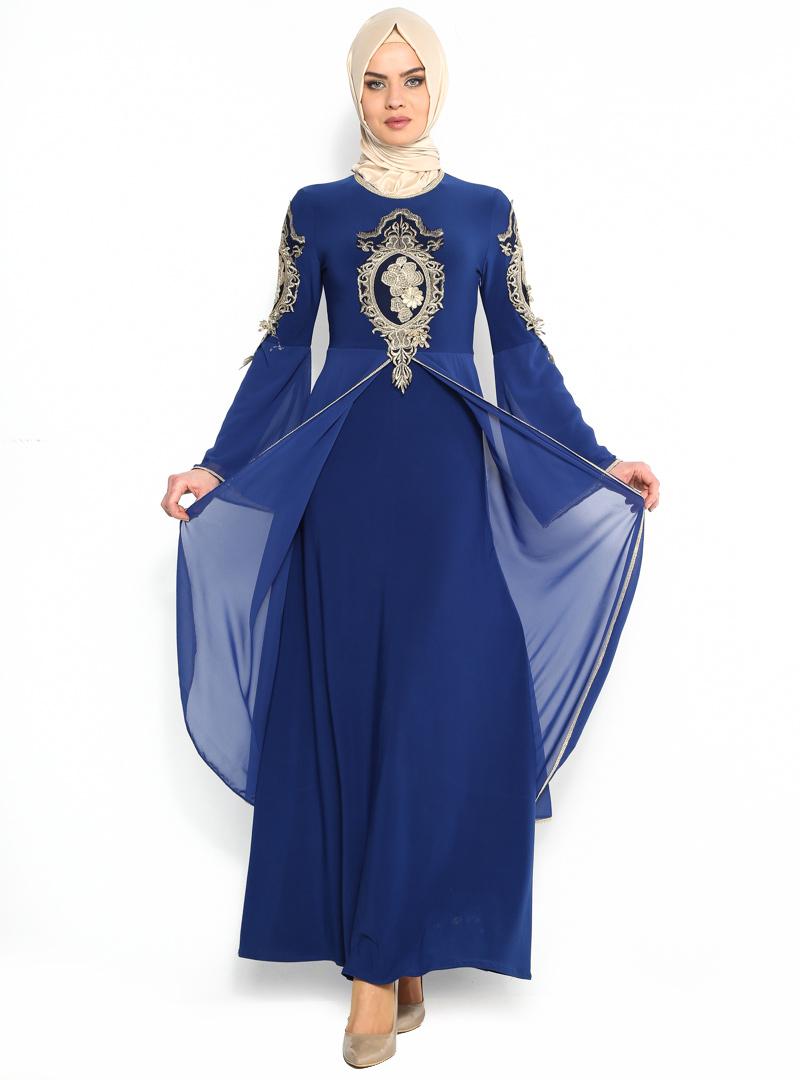 ispanyol-kollu-abiye-elbise--saks--burun-106975-1