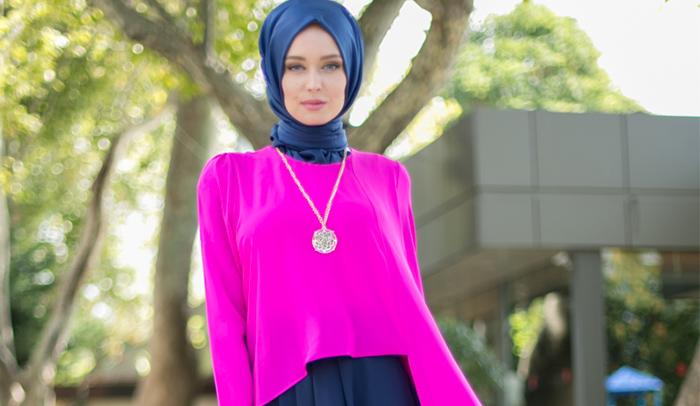 Bayrama Özel Tesettür Giyim Elbise Modelleri