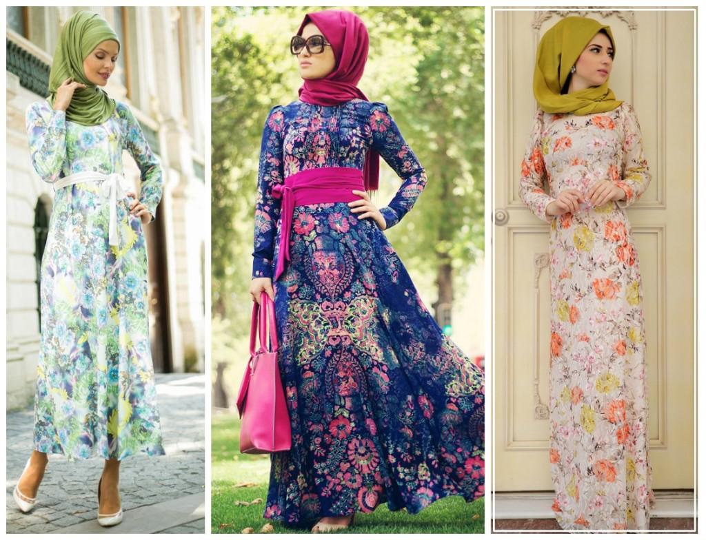 Floral Desen Elbiseler