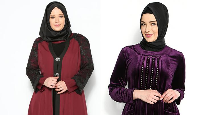 Büyük Beden Bayramlık Elbise Modelleri