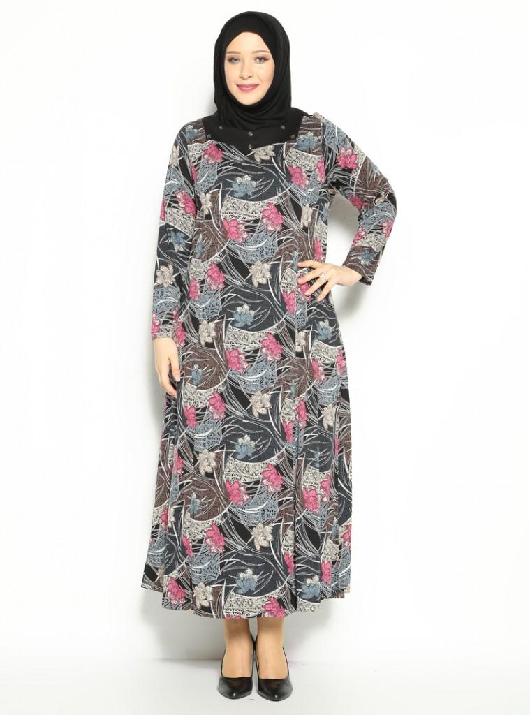 desenli-elbise-siyah-gri--neslihan-triko-154383-1