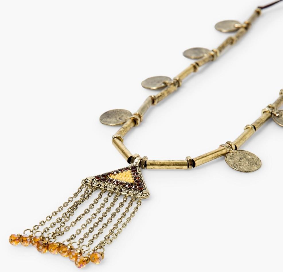 bronz renkli kolye