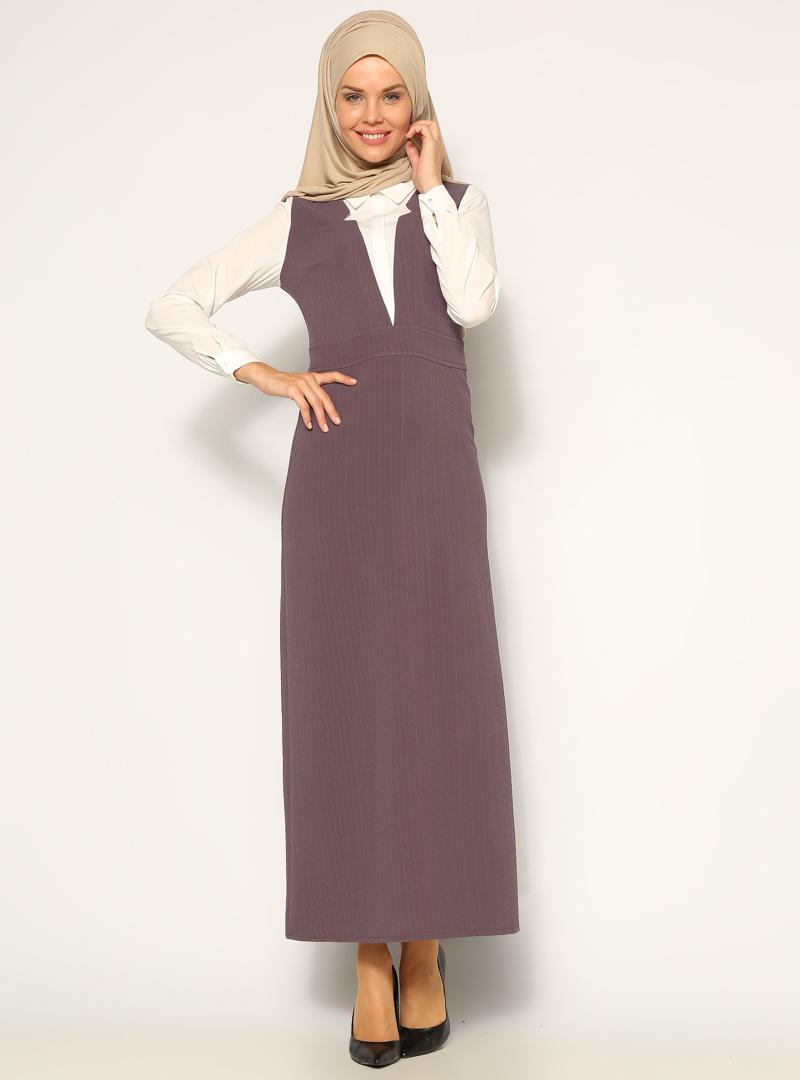 klasik-elbise--koyugri-ekru--neways-160336-1