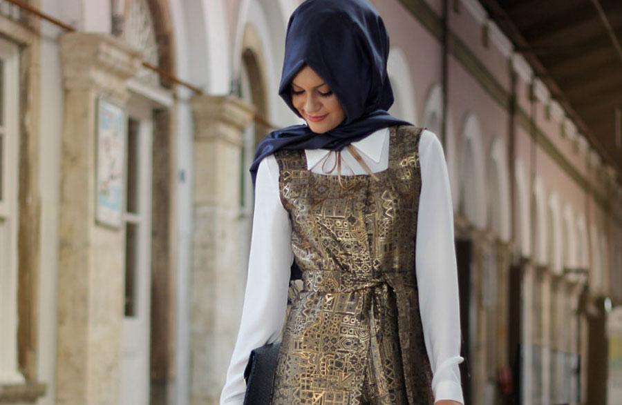 Tesettür Giyimde Bronz-Bakır Renkleri