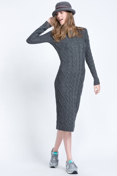 triko-elbise-modelleri