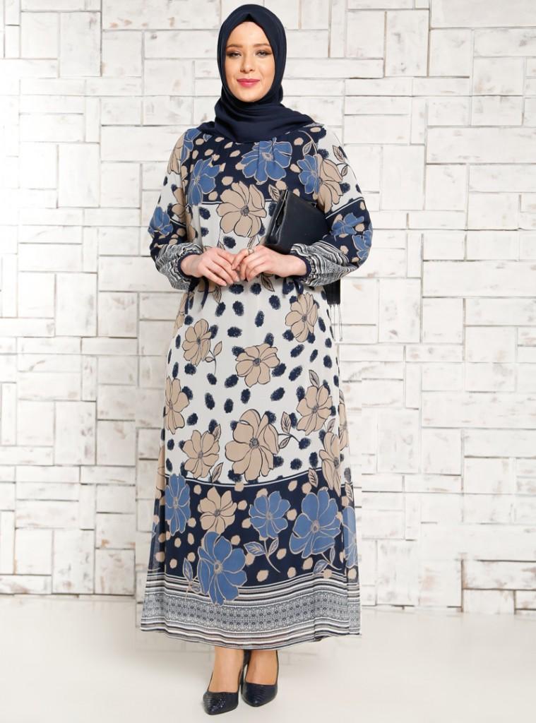 cicek-desenli-sifon-elbise--indigo--mor-menekse-178666-3