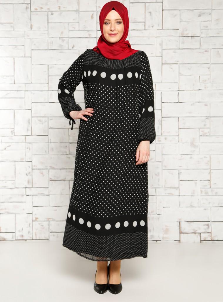 puantiyeli-sifon-elbise--siyah--mor-menekse-178662-1