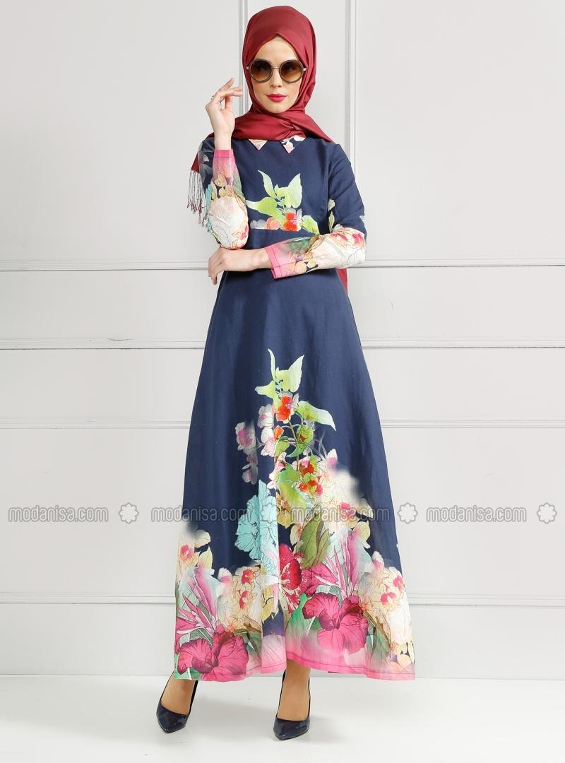 z-desenli-elbise--lacivert--refka-180151-180151-3