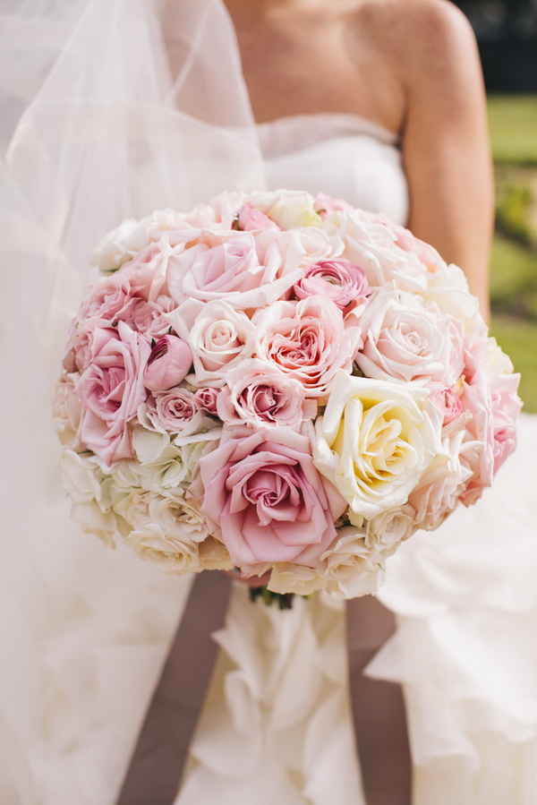 Pink-Roses-Wedding-Bouquet