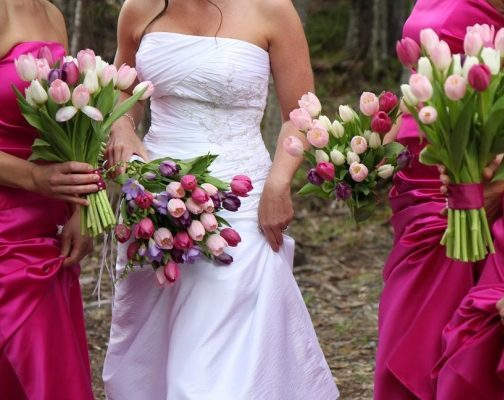 Spring-Tulips-Wedding-Bouquets