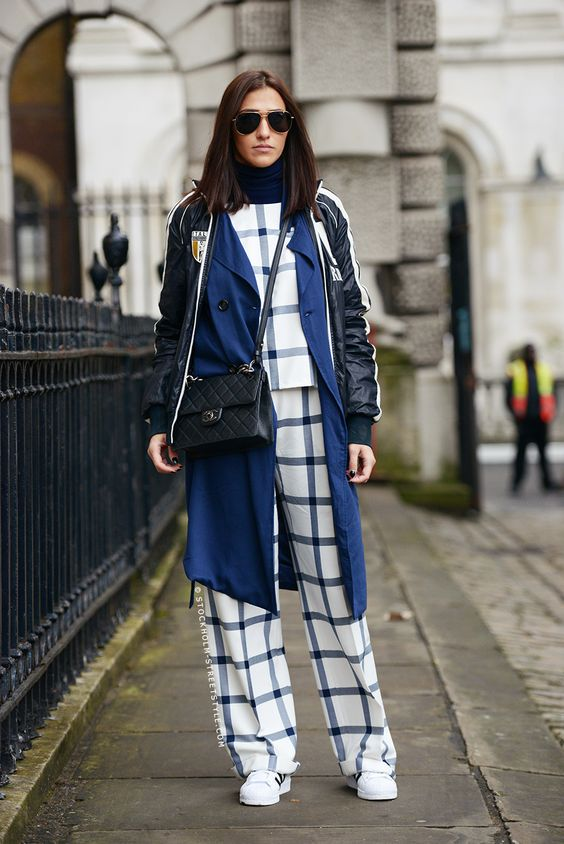 trend-moda-stil-çizgili-pantolon