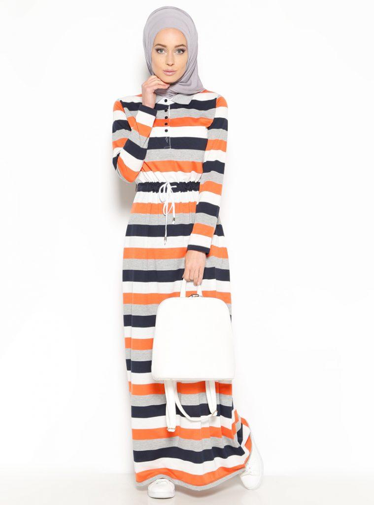 cizgili-elbise--turuncu--everyday-basic-179977-1