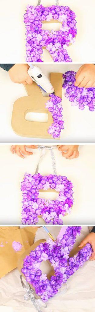 çiçek harf dekor