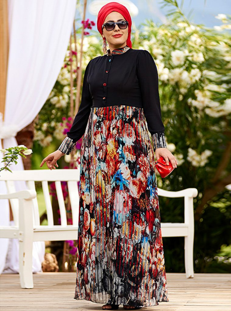 desenli-yakma-sifon-elbise--siyah--nesrin-emniyetli-212127-1