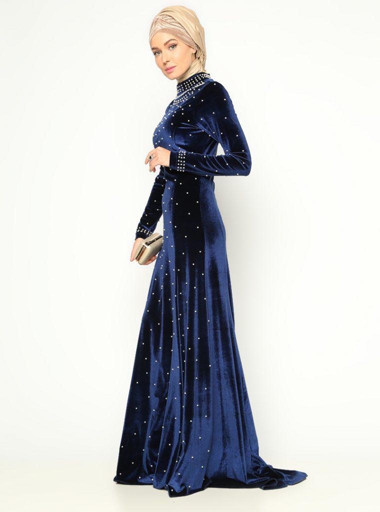 incili-kadife-abiye-elbise--saks--mislina-166826-3