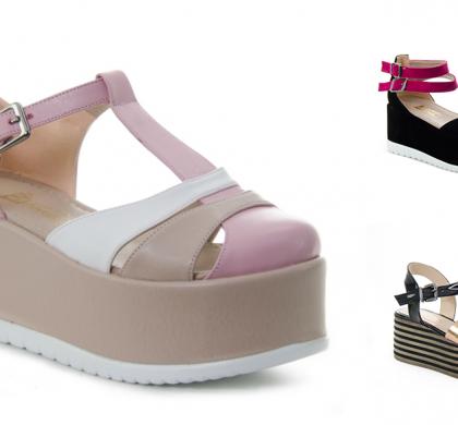 2016 Yazlık Platform Ayakkabılar