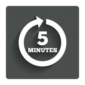 beş dakika-horz