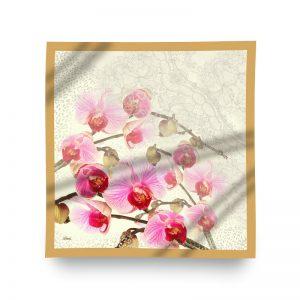 orkide desenli eşarp