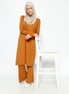 tunik-pantolon-ikili-takim-camel-everyday-basic-228074-1