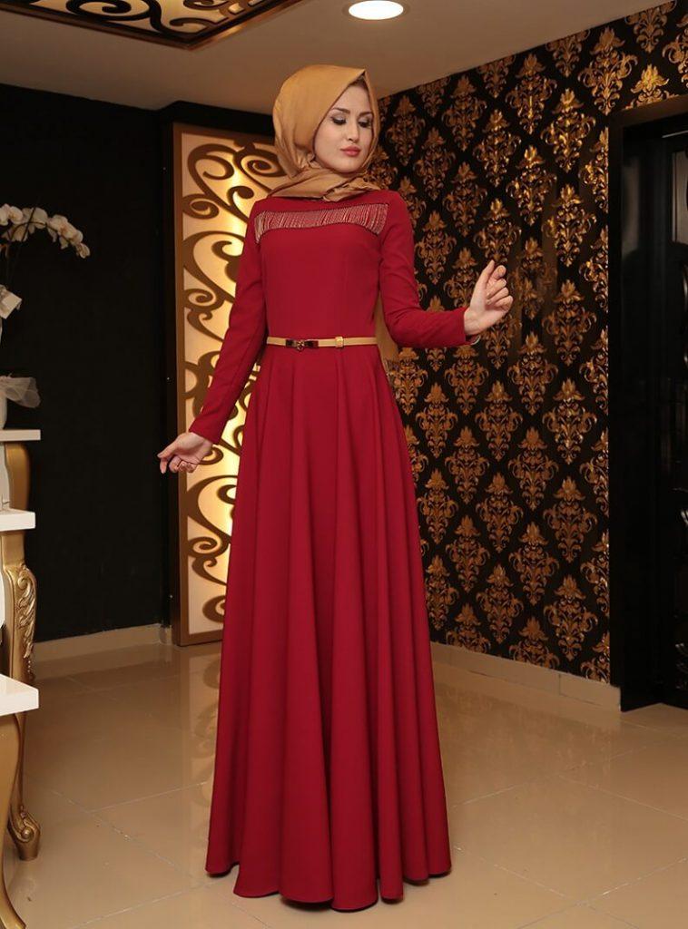 zincirli-abiye-elbise-bordo-selma-sari-design-197759-1