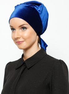 arya-kadife-kisa-hazir-turban-mavi-vera-bone-225039-1