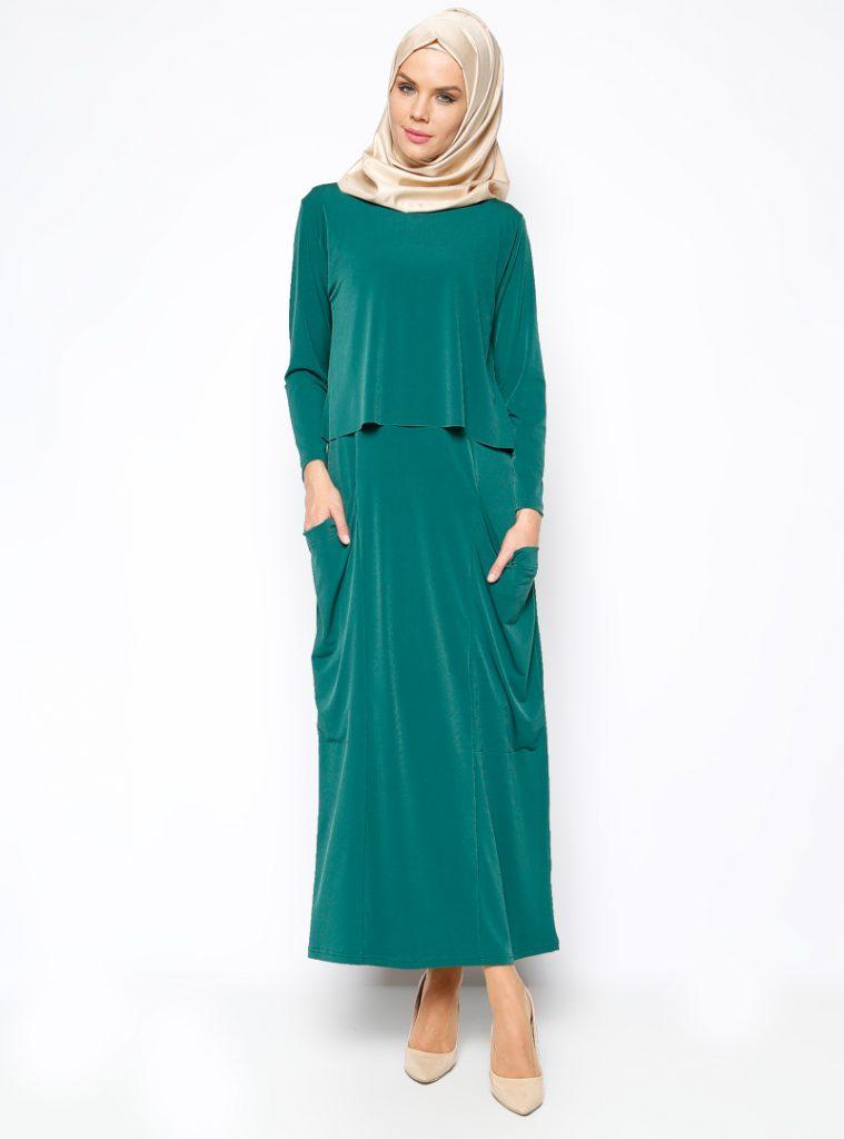 kolsuz-elbise-bluz-ikili-takim-yesil-stilim-252576-1