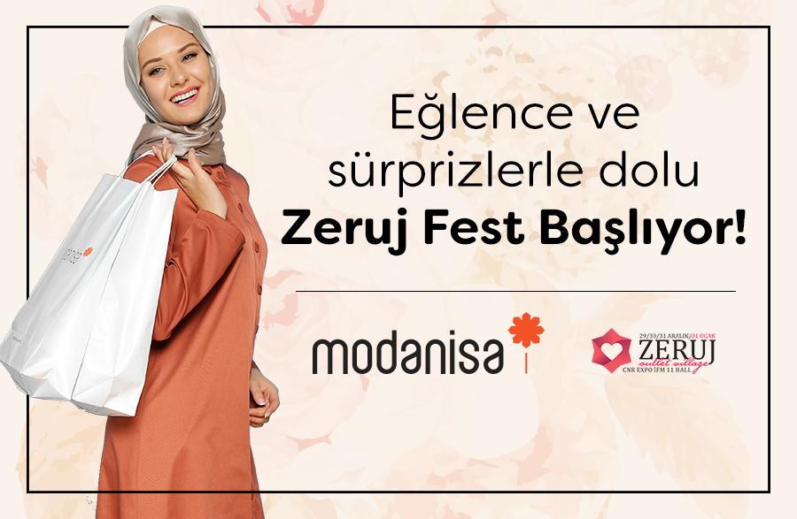 Zeruj Fest, Modanisa Lojistik Sponsorluğunda Başlıyor!