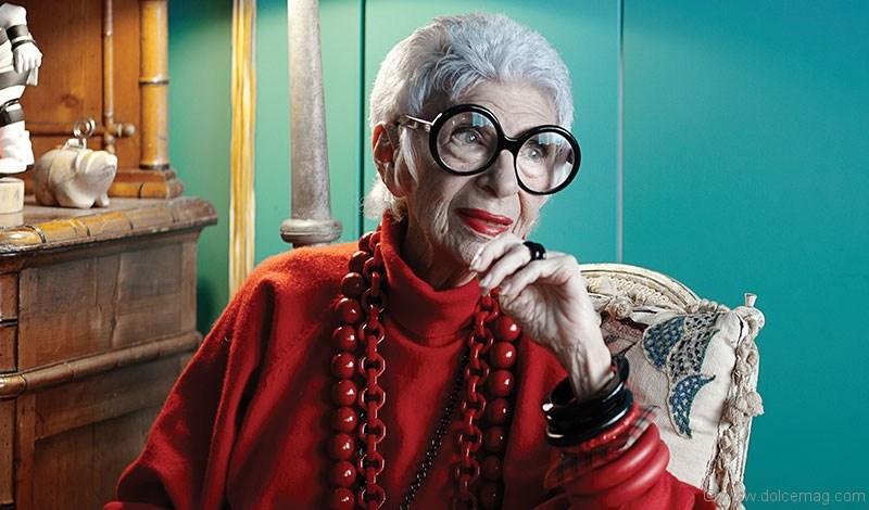 Iris Apfel, Yaşlı, İhtiyar, Gözlük, Aksesuar, Moda ikonu