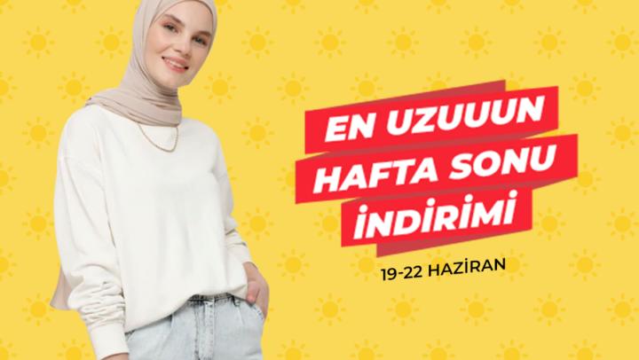 """Modanisa'dan """"En Uzun Hafta Sonu"""" indirimi"""